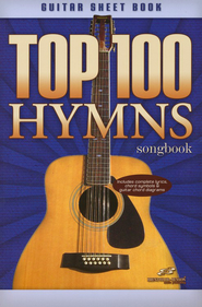 Top 100 Hymns Guitar Sheet Book   -