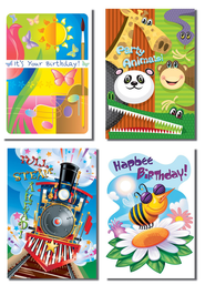 Mixed Graphics Birthday for Kids Cards, Box of 12  -