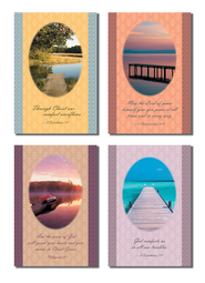 Water Scenes Sympathy Cards, Box of 12  -