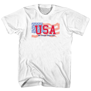 USA One Nation Under God Shirt, White, Large  -