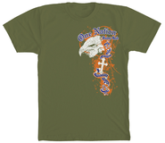 One Nation Eagle, Military Green, Small  -