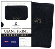 NKJV Personal-Size Giant-Print Bible--bonded leather, black  -