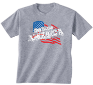 God Bless America Shirt, Gray, Large  -