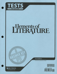BJU Elements of Literature Grade 10, Tests Answer Key  (Updated Version)  -