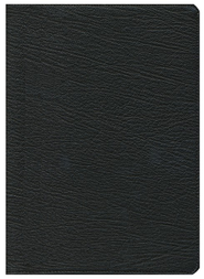 KJV Clarion Reference Bible, Goatskin Leather, Black    -