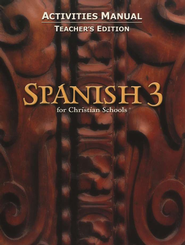BJU Spanish 3 Student Activities Manual, Teacher's Edition   -