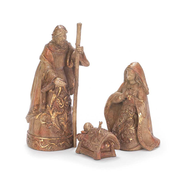 Holy Family Bronze Look Figurines  -