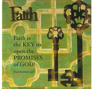 Faith is the Key Stretched Canvas  -