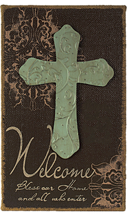 Welcome, Bless Our Home and All Who Enter Plaque  -