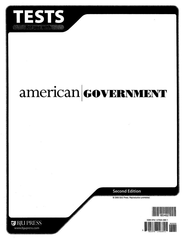 BJU American Government Grade 12 Tests (Second Edition)    -