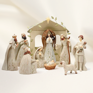 Nativity Set, Ivy Design, 10 Pieces   -