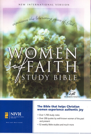 NIV Women Of Faith Study Bible, Hardcover  1984  -