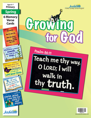 Growing for God Primary (Grades 1-2) Memory Verse Visuals  -