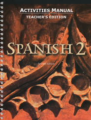 BJU Spanish 2 Student Activities Manual, Teacher's Edition (Second Edition)  -