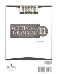 BJU Writing & Grammar Tests, Grade 11   -