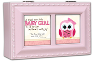 A Brand New Baby Girl Music Box, Pink  -