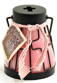 Cross Candle Lantern, Very Berry  -