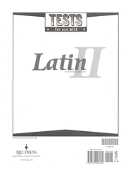 BJU Latin II, Tests     -