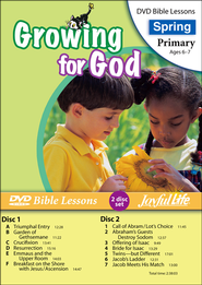 Growing for God Primary (Grades 1-2) Bible Lesson DVD   -
