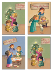 Precious Angels Christmas Cards, Box of 12  -
