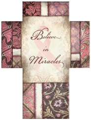 Believe in Miracles Cross, Pink Ribbon  -              By: Dee Dee
