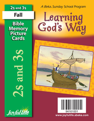 Learning God's Way (ages 2 & 3) Mini Bible Memory  Picture Cards  -