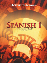 BJU Spanish 1 Student Activities Manual (Second Edition)    -