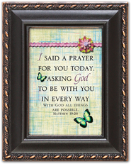 I Said a Prayer for You Today Magnetic Frame  -