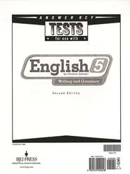 BJU English Grade 5 Tests Answer Key (2nd Edition)   -