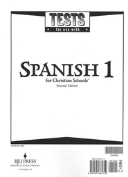 BJU Spanish 1 Tests (Second Edition)    -