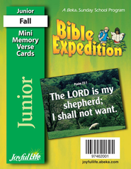 Bible Expedition Junior (Grades 5-6) Mini Memory Verse Cards  -