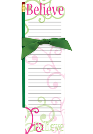 Believe Magnetic Note Pad and Pencil  -