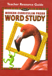 Modern Curriculum Press (MCP) Word Study Level F  Teacher Resource Guide (1998/2003 Edition)  -