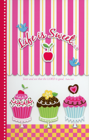 Life Is Sweet Journal with Sticky Notepad   -