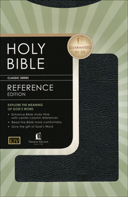KJV Reference Bible, Bonded leather black  -              By: Bible