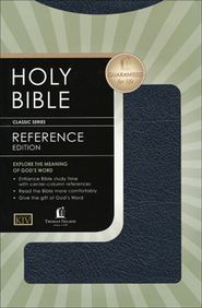 KJV Reference Bible Bonded leather, navy blue  -     By: Bible