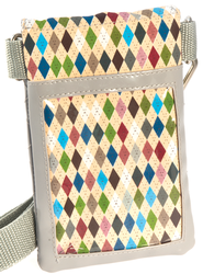 Cell Phone Case Organizer with Belt, Blues and Gray  -