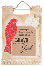 Live Love Speak Wallhanging  -