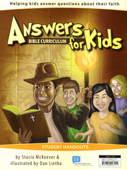 Answers for Kids Bible Curriculum Student Handouts 1-30  -