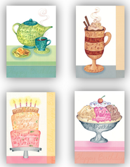 Sweet Indulgences Birthday Cards, Box of 12  -