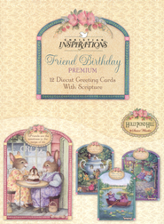 Tea Cups & Friends Birthday Cards, Box of 12  -     By: Susan Wheeler