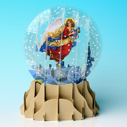 Pop-Up Snow Globe Greeting, Angel   -