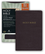 KJV Giant Print Reference Bible, Bonded Leather Burgundy Indexed, Stickered  -