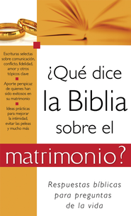 ?Que dice la Biblia sobre el matrimonio?: What the Bible Says About Marriage - eBook  -