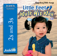 Little Feet Walk His Way (ages 2 & 3) Audio CD   -