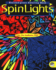 SpinLights, Stained-glass Coloring Book   -