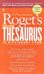 New American Roget's College Thesaurus in Dictionary Form  -     By: Philip D. Morehead