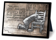 Praying Man Sculpture Plaque  -