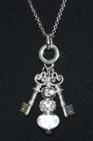Keys of the Kingdom Two Keys Necklace  -