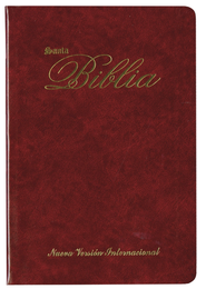 Biblia Ultrafina NVI, Piel Imitada Vino  (NVI Slimline Bible, Imitation Leather, Burgundy)  -